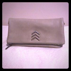 Foldover handbag beige express